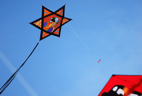 49-Orange Star Kite