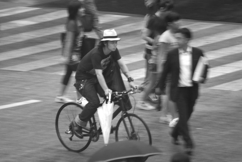 Cyclist, Shibuya, Tokyo