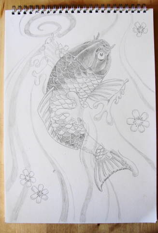 Koi dragon Drawing in pen Koi Dragon Photo by DSDesigns