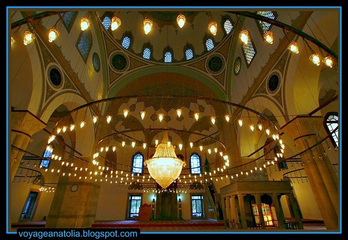 Selimiye Mosque of Ottoman Sultan Selim II at Konya by voyageAnatolia.blogspot.com