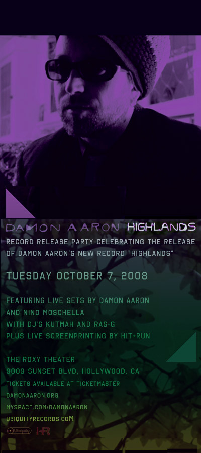 Damon Aaron Record Release 10/7