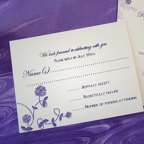 Wedding RSVP Postcard
