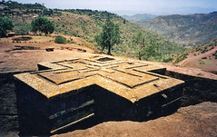 Ancient Bedrock Church of St. George, Lalibela, Ethiopia (Boonlong1) Tags: africa history church saint architecture cathedral religion culture christian historical ethiopia archeology saintgeorge cultural lalibela bedrock houseofworship orthadox 5photosaday rockhewn