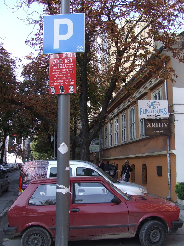 Parking with mobile phone