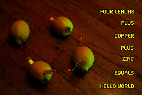 Lemon Battery - With Real Lemons