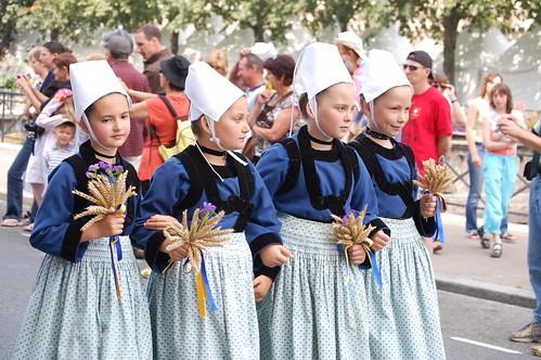 4 filles en bleu