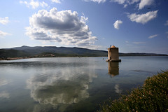 Tuscany: Orbetello (chiar@s.) Tags: reflection windmill clouds nuvole fabulous orbetello italians smorgasbord chiaras mulinoavento goldenmasterpiece