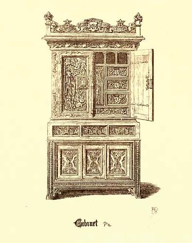 19- Muebles estilo gotico S. XV- Armario- Cabinet