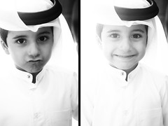 {       }{ (FatoOoma Qatar ~) Tags: s3ad brother baby chlid cute boy young face little day love eid human person portrait tradition traditional clothes childrenportrait arabic view children gulf people summer child kid qatar doha 2008 flickcom flickr fatma fatoooma image photo picture bw black white smile smiley smiling smiled smiler happy family time fav