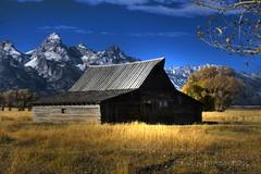 Mormon Barn HDR (Striz13102) Tags: teton mormonrow mormonbarn