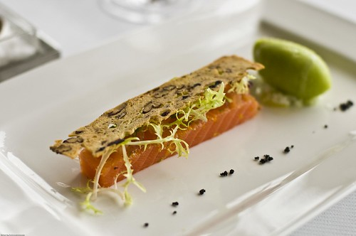 Salmon Confit With Cucumber Sorbet