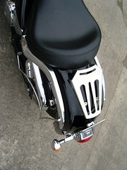 bespoke chrome fittings and rack for motorcycle. (brightweld fabrications) Tags: bristol spiral steel staircases stainless aluminium glasswork fabrication thekla