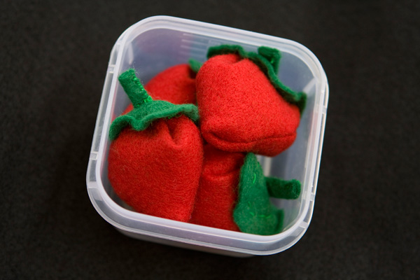 Felt Food - Strawberries