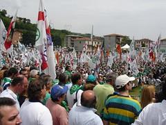 Bossi Pontida 2008 (Dovesi Alfredo) Tags: bergamo lombardia nord liberta maroni bossi lega padania calderoli pontida federalismo urgnano cappuccettoverde