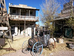 What remains of Wyatt Earp\'s Old Tombstone, a former tourist trap outside of Tombstone (tombstone39xy)