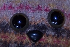 sweater bear, safety eyes and nose