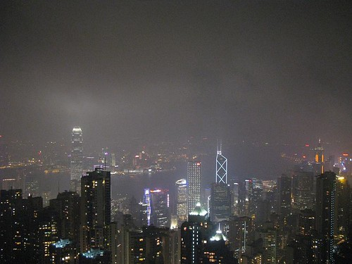 view of Hong Kong from 'the peak'