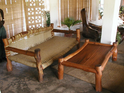 A Swahili bed and couch