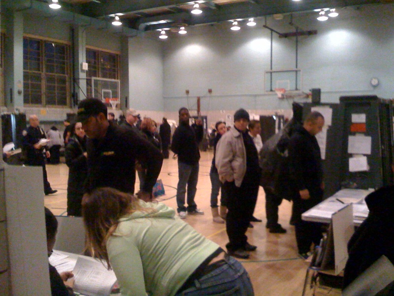 Voting in Williamsburg, Brooklyn