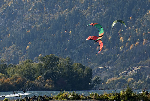 Kite surfing the Columbia River Gorge