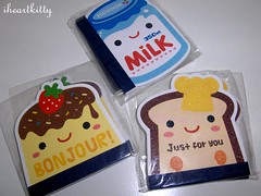kawaii memo pads (iheartkitty) Tags: cute japan paper bread japanese milk strawberry notes memo butter kawaii flan pads iheartkitty