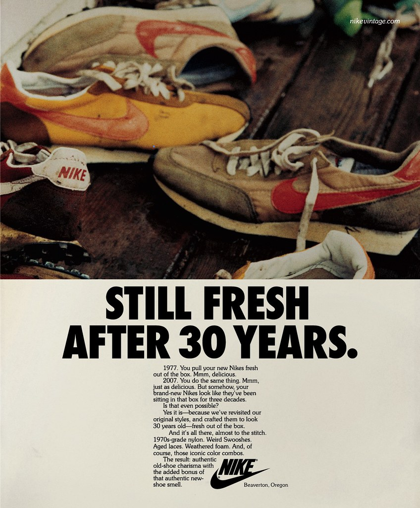 Nike Vintage Running Advertising