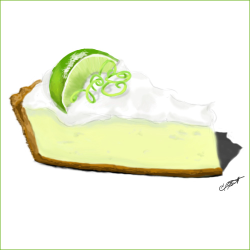 key lime pie sketch