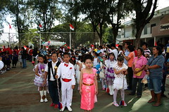 Thai students dressed up