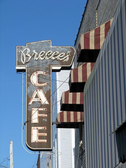 Breece's Cafe sign A