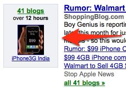 Google Blog Search Cluster Box