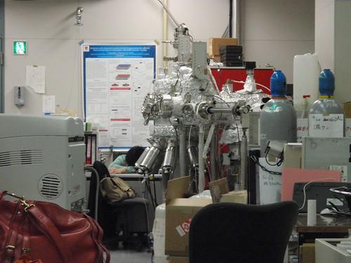 Durmiendo en el laboratorio
