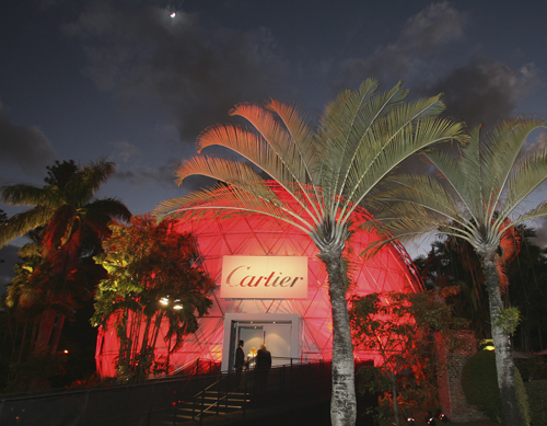 The Cartier Dome at the Miami Botanical Garden.