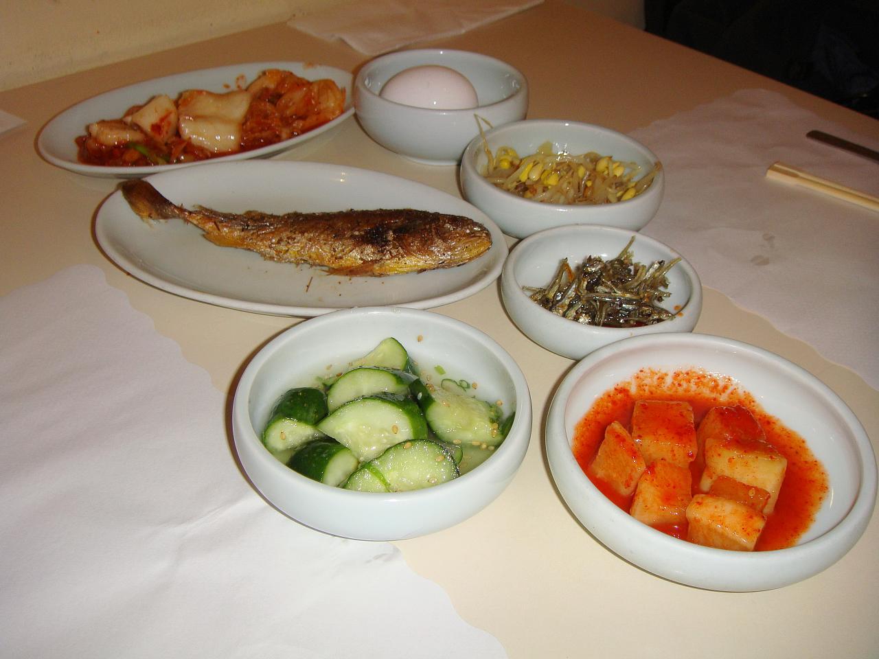 Kimchi assortment or banchan
