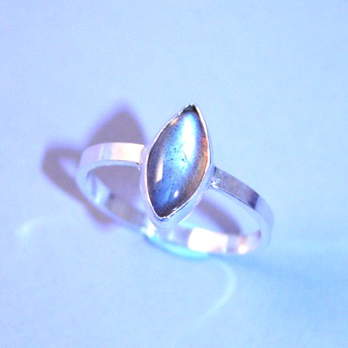 Sterling and Labradorite Ring