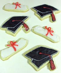 Graduation Cookies (Broken Road Farm) Tags: cookie diploma graduation graduate grad sugarcookies graduationcap frostedcookies decoratedcookie