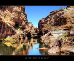 Cobbold Gorge in the Gulf Savannah Region of Far North Queensland, Australia :: P-HDR (:: Artie | Photography ::) Tags: water photoshop landscape sandstone gulf cliffs panasonic formation crocodile queensland handheld outback gorge savannah hdr freshwater artie fnq cobbold cs3 farnorthqueensland photomatix tonemapping tonemap 1xp cobboldgorge forsayth