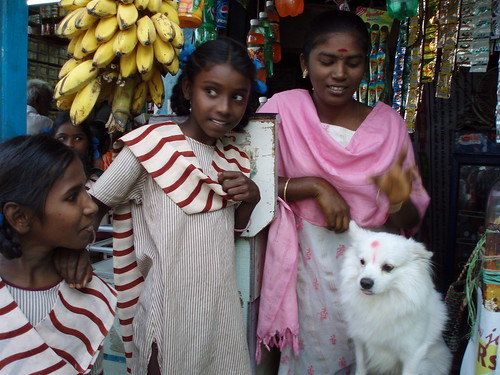 Young women in the market, India