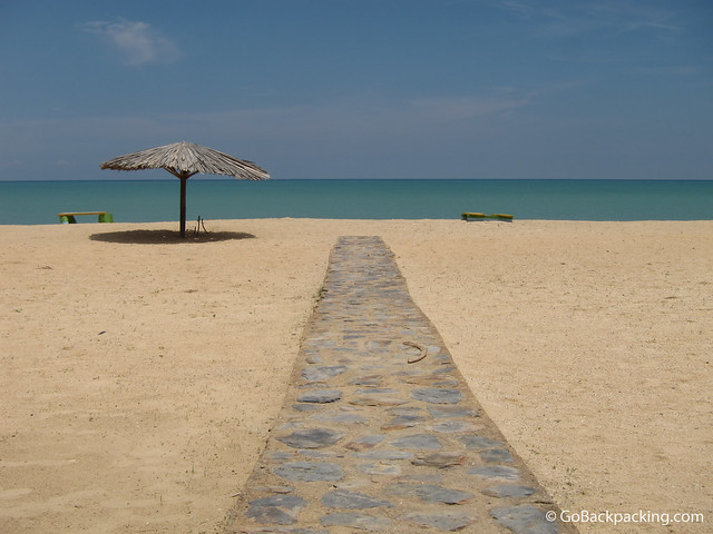 Private beach near Cabo de la Vela