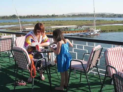 Boating the Nile