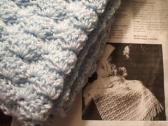 baby blanket (benihime) Tags: blue baby crochet vintagepattern