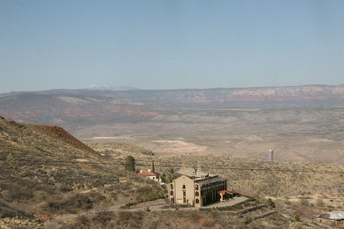 A view of the landscape from Jerome, Arizona.