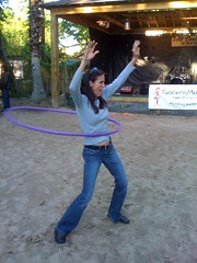 Kelly getting down with a hula hoop!!