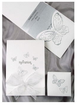 Designer Wedding Invitations-Beau, Butterfly White Wedding card, wedding invitation designs, wedding invitation samples, wedding plan., wedding cakes, flowers, invitation, photos, gowns, dresses