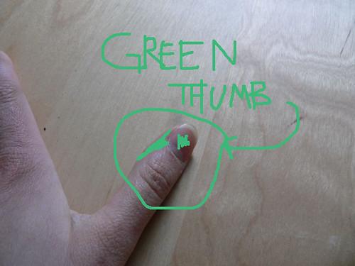 'green' thumb