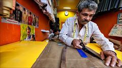 A tailor's Cut • Mysore (Henk oochappan) Tags: 2007 karnatakka mysore streetscenes oochappan street tamillifeculture dravidian canon eos canoneos5d tamilnadu tamil southindia india indianphotography img4410