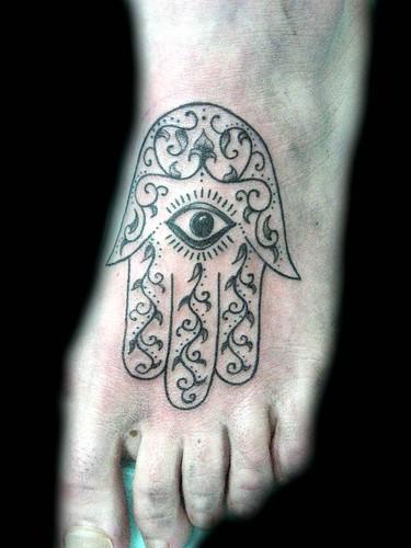 Tatuaje Mano de Fatima Pupa Tattoo Granada