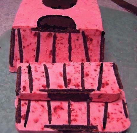 Fresh Raspberry -White Chocolate Mousse icebox cake