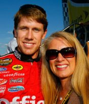 Carl Edwards and Mom