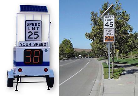paneles informativos de velocidad