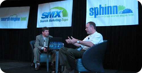 Kevin Johnson, Microsoft with Danny Sullivan at Search Marketing Expo